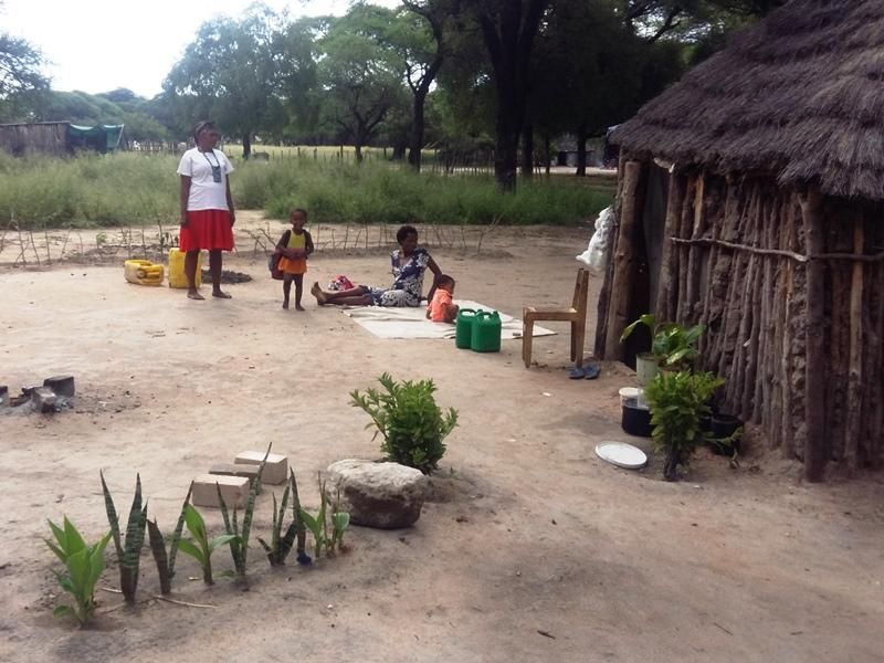 Auch hier werden trotz Platzbeschränkung Hausgärten angelegt